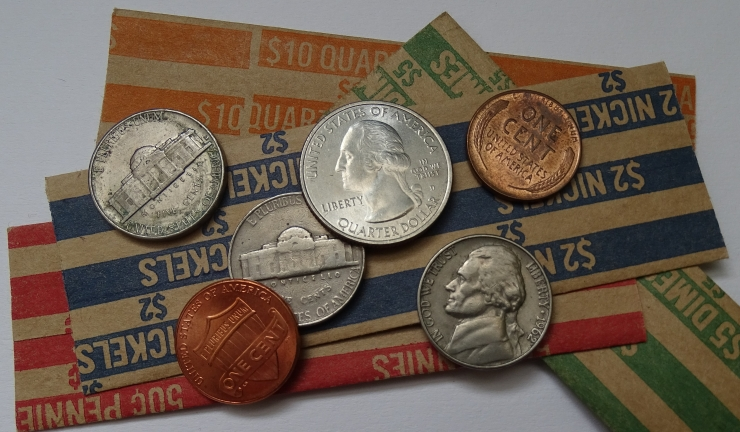 Coins on Wrappers