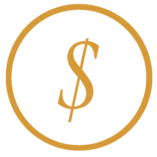 American Coin Stash Logo 1 Dollar Sign in Orange circle