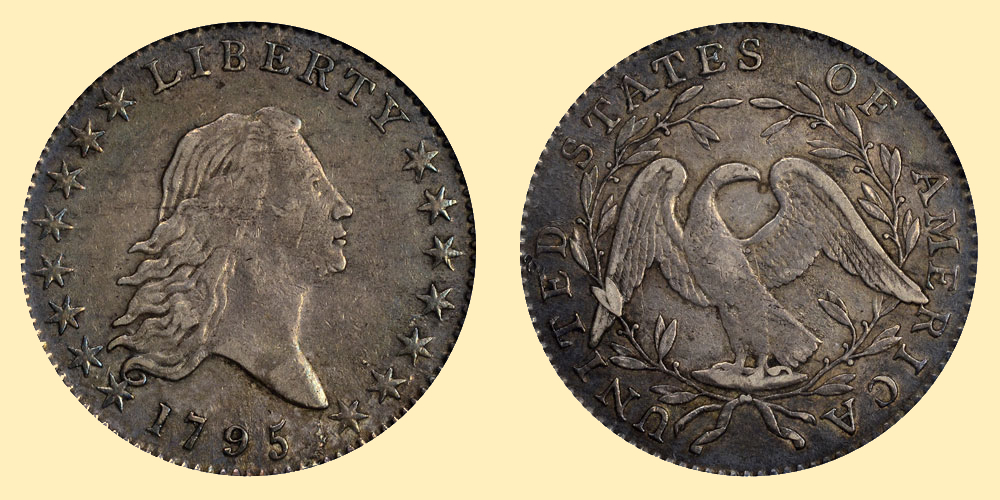 1795 flowing hair half dollar