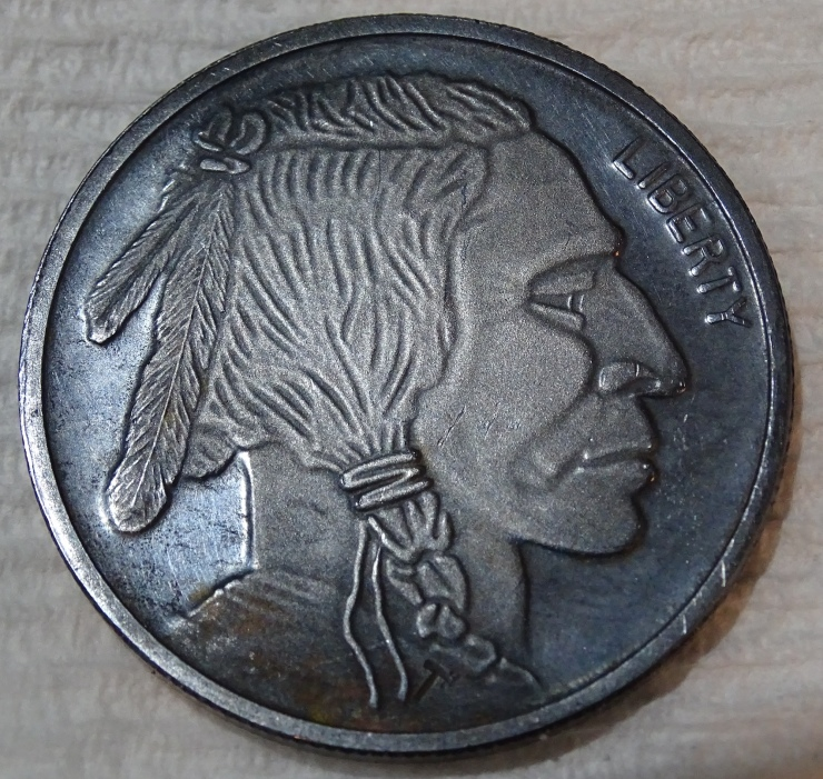 Obverse of Silver After Polishing