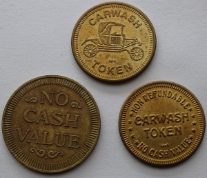 Carwash and Game Tokens