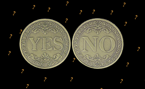 Decision Coin YES/NO Medallion Challenge Coin