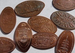 Several Elongated Smashed Pennies