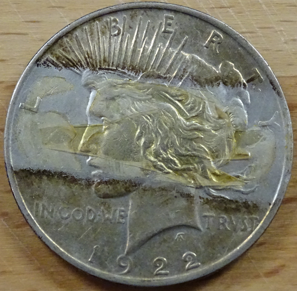 Obverse Tape Before Peace Dollar
