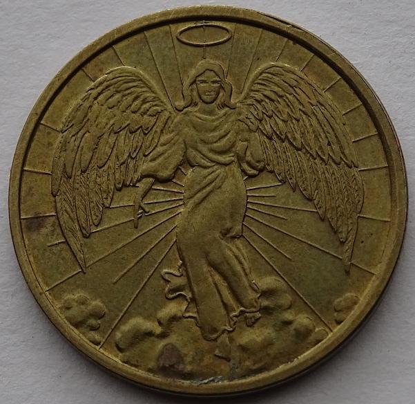 Prayer Token Angel Golden