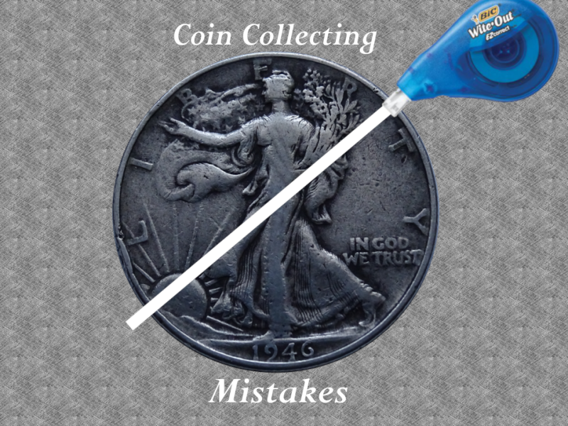 Coin Collecting Mistakes White Out 1946 Half Dollar Silver