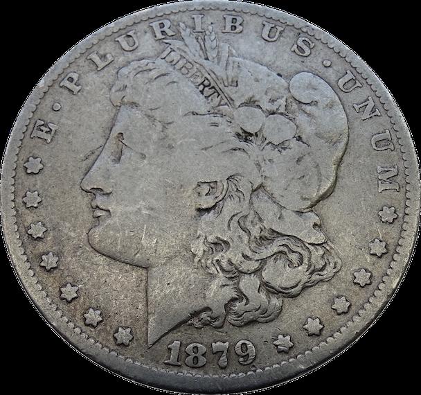 1879 O Morgan Dollar Transparent Background