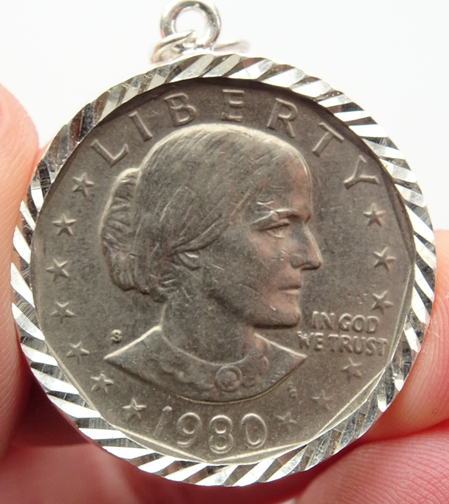 SBA Coin in Bezel Susan B Anthony
