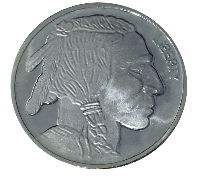 Silver Buffalo Round Transparent