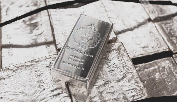 Scottsdale Mint Bar 100 Troy Ounces
