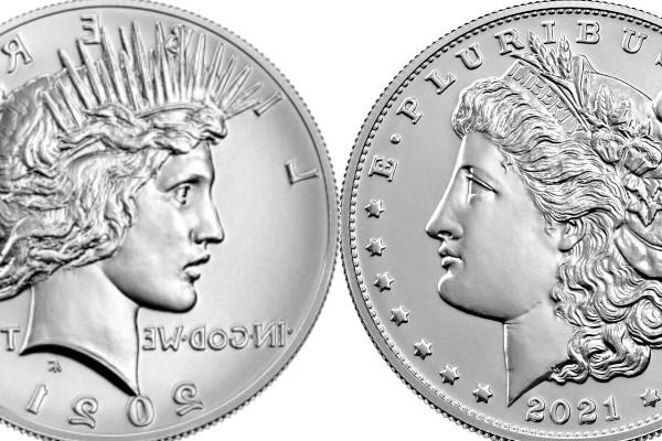 2021 morgan peace silver dollar CC S O Privy Mark