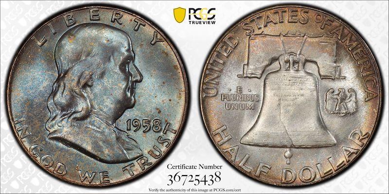 Benjamin Franklin HAlf dollar PCGS 1